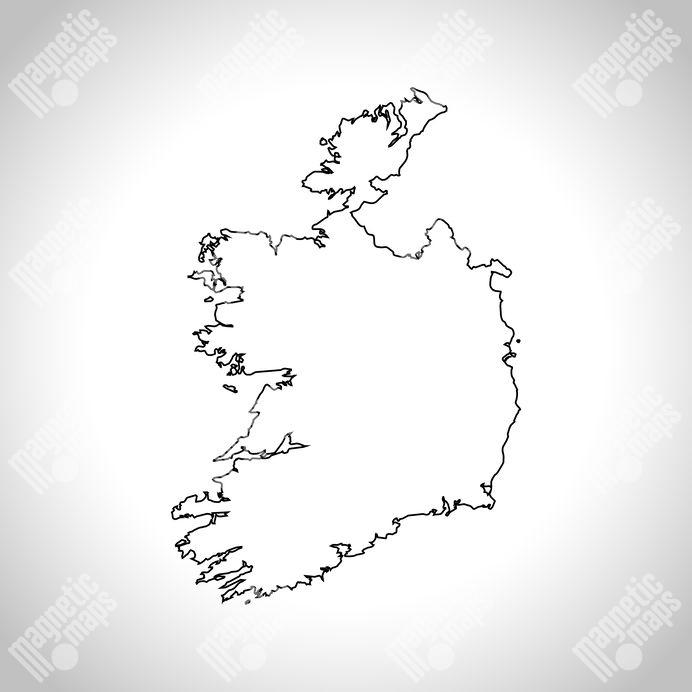Magneticka Mapa Irska Obrysova Slepa