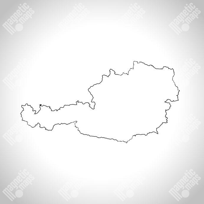Magneticka Mapa Rakouska Obrysova Slepa