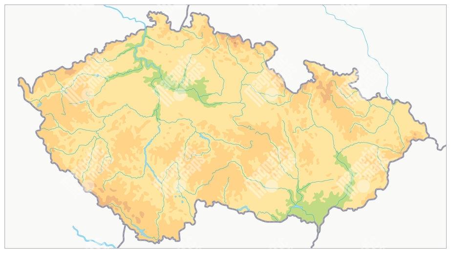 Magneticka Mapa Ceske Republiky Geograficka Barevna